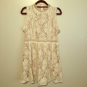 Off White Lace Sun Dress